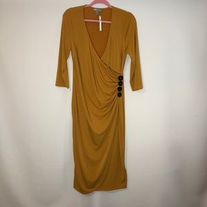 ASOS Design Ruched Midi Dress